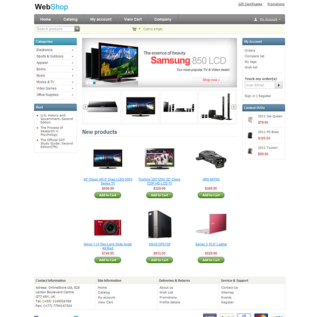 free cs cart theme