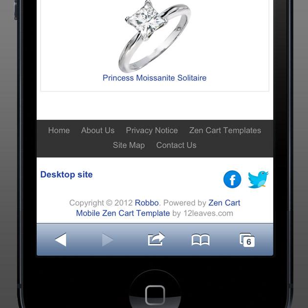Mobile Zen Cart Template, iPhone Zen Cart Theme, Mobile-Friendly ...