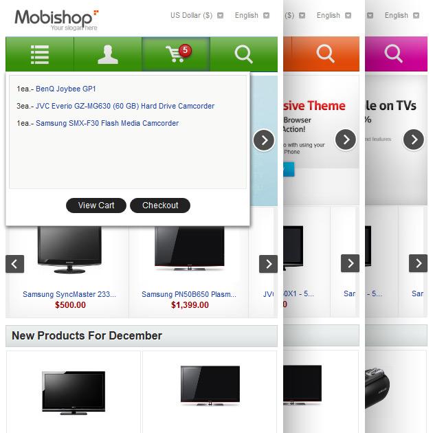 Responsive Zen Cart Template, Mobile-Friendly Theme