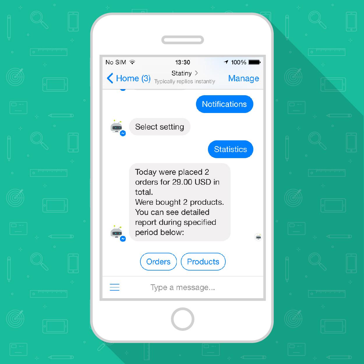Track Store Sales in Messenger or Telegram Chatbot