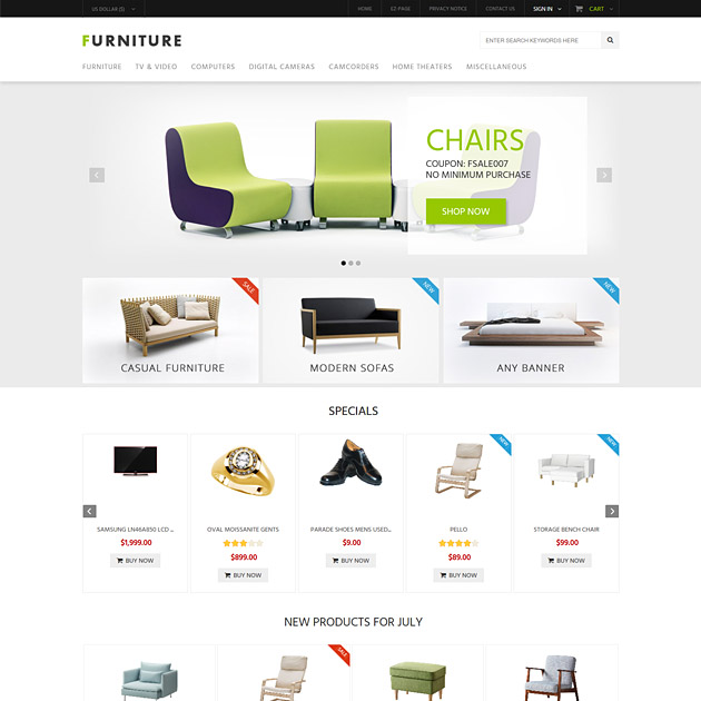 free responsive zen cart templates - furniture responsive zen cart template interior mobile