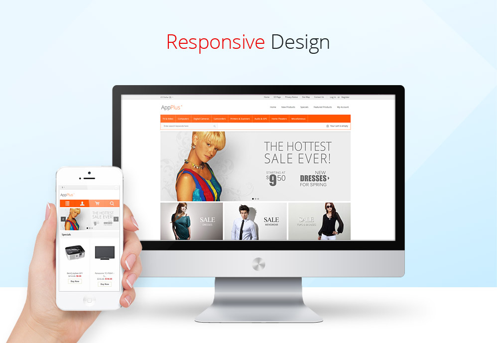 Responsive Zen Cart Theme Design