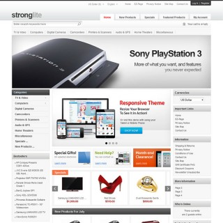 Strong Responsive Zen Cart Template