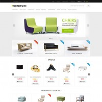 Furniture Responsive Zen Cart Theme multipurpose