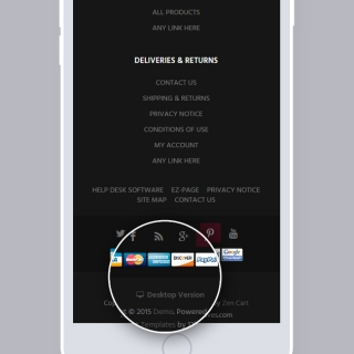 Desktop Version feature is included to the theme for mobile users.